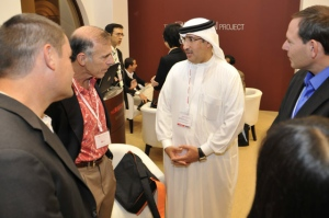 HE. Shaikh Mohammed bin Essa Al Khalifa welcomes Dr. Tony Wagner and others.